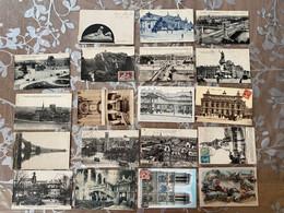 Lot 19 CPA Paris Marcophilie Et Timbres Intéressants - Other Monuments