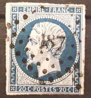 Empire No 14 A Obl Pc 187 De AURIGNAC, Haute Garonne,  Indice 8, TB - 1853-1860 Napoleon III