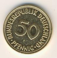 BRD 1972 F: 50 Pfennig, Vergoldet - Gilt - Doré, KM 109 - 50 Pfennig