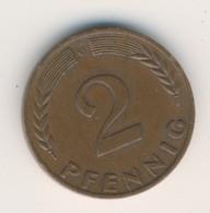 BRD 1968 G: 2 Pfennig, Non-magnetic, KM 106 - 2 Pfennig