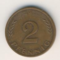 BRD 1967 J: 2 Pfennig, KM 106 - 2 Pfennig