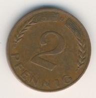 BRD 1967 D: 2 Pfennig, KM 106 - 2 Pfennig
