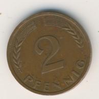 BRD 1961 J: 2 Pfennig, KM 106 - 2 Pfennig