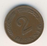 BRD 1959 J: 2 Pfennig, KM 106 - 2 Pfennig