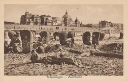Nederland - 1928 - Sepia Ansicht Scheveningen - Zandbooten Van LB Scheveningen Kurhaus/3 Naar Heemstede - Scheveningen