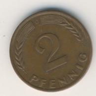 BRD 1959 D: 2 Pfennig, KM 106 - 2 Pfennig