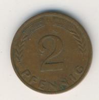 BRD 1950 D: 2 Pfennig, KM 106 - 2 Pfennig