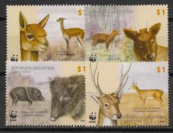 Argentina - 2002 - N°Yv. 2320 à 2323 - Faune / Animals / WWF - Neuf Luxe ** / MNH / Postfrisch - Ungebraucht