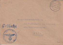 Lettre En Franchise De Morhange (T329 Mörchingen Westmark C), Le 22/6/42 + Cachet Bleu Postsache - Elzas-Lotharingen