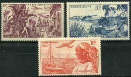 Guadeloupe (1947) PA N 13 à 15 * (charniere) - Ungebraucht