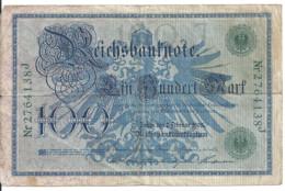 ALLEMAGNE 100 MARK 1908 VF P 34 - 100 Mark