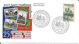 Enveloppe Philatélique XVII Salon Philatélique D'automne 8.11.1963 à Paris Timbre N°776 - 1960-1969