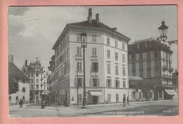 OUDE POSTKAART ZWITSERLAND -   LUZERN - KASERNENPLATZ - HOTEL ENGEL  1914 - LU Lucerne