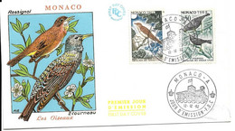 1er Jour Oiseau Rossignol 12.12.1962 à Monaco - FDC
