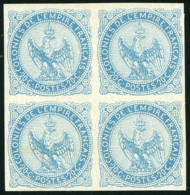 COLONIES GENERALES N°4 Aigle 20c Bleu Bloc De 4 3 Timbres Xx Un X TB - Águila Imperial