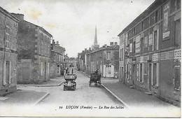 85 - Vendee - Luçon - La Rue Des Sables CPA Postée En 1920 Tacot Biscuiterie Confiserie ... - Lucon