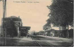 85 - Vendee - Luçon - La Gare Les Quais - Cpa Ayant Circulé - Lucon