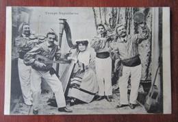 Napoli - Troupe Napolitaine - Arpa, Violino, Tamburello, Chitarra, Harpe, Violon, Tambourin, Guitare - Napoli (Napels)