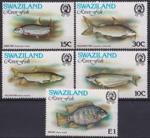F-EX21252 SWAZILAND MNH 1980 MARINE WILDLIFE RIVER FISH PECES - Peces