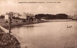 N° 4384 Z -cpa Argenton Landunvez -le Port Et Les Villas- - Otros Municipios