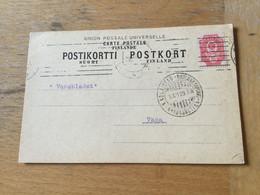 K14 Finnland 1909 Firmenkarte Von Nikolaistad Nach Vasa - Covers & Documents