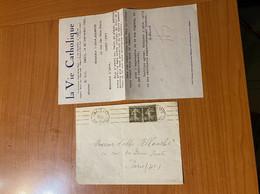 Lettre De 1929 - Timbre Perforé ( Voire Scan ) - Perfins