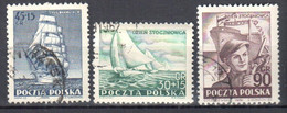 Poland 1952 - The Day Of The Shipyard Worker - Mi 754-56 Used - Usados