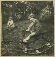 Stéréo Amateur. Enfant Et Son Cheval à Bascule. Jouet. Toy. 1925. - Stereoscopio