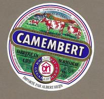 ETIQUETTE De FROMAGE..  CAMEMBERT De NORMANDIE.. Importé Par Albert HEIJN - Cheese