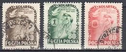 Poland 1953 - Bicycle Peace Race - Mi 799-801 Used - Usados