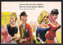 "COMIC Bamforth B6 - "" DID YOU MAKE YOUR CHOICE SIR "" .....VOUS AVEZ FAIT VOTRE CHOIX ? Breast - Sein - Humor"