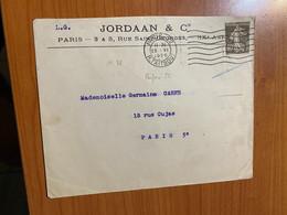 Lettre 1926 - Timbre Perforé ( Voire Scan ) - Perfins