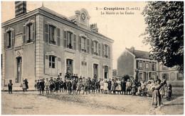 78 CRESPIERES - La Mairie Et Les écoles - Other Municipalities