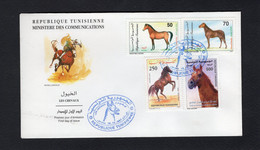 Tunisia/Tunisie 1997 - FDC - Horses - Les Chevaux -  Excellent Quality - Tunisia