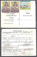 Ca5234 ZAIRE 1976, Boxing & Inga Stamps On Kamina 1mandat Postal - 1971-79: Gebraucht