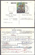 Cb0158 ZAIRE 1975, Boxing Stamp On Lubumbashi 4 Mandat Postal - 1971-79: Gebraucht