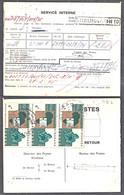 Cb0159 ZAIRE 1974, FIKIN Stamps On Lubumbashi 10 Mandat Postal With Lubumbashi 6 Griffe - 1971-79: Gebraucht