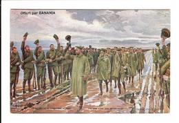 LE ROI D' ANGLETERRE GEORGE V SUR LE FRONT - ( Vue Recto Verso ) - PUB BANANIA Au Dos - Guerra 1914-18