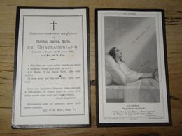 Noblesse : Faire Part Deces De Therese Jeanne Marie De CHATEAUBRIAND En 1879  ................ 1075d - Esquela