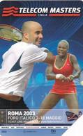 ITALY - Tennis, Telecom Italia Masters Roma 2003, Exp.date 31/12/03, Used - Öff. Werbe-TK