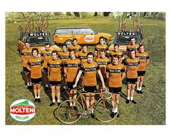PHOTO RENFORCÉEE, HAUTE CALITE, TEAM MOLTENI 1973 FORMAT 17 X 24 - Cycling