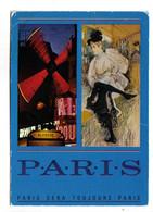 """PARIS - Le Moulin Rouge - Toulouse Lautrec : """"Danse De La Goulue """" - Parigi By Night"""