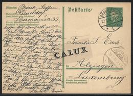 Luxembourg / Luxemburg Entier Postal Allemand 8 Pf De Düsseldorf Vers Alzingen Cachet Hespérange 1932 - Ganzsachen