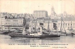 "Cpa Paquebot Bateau "" Conqueror "" T.G Sandford Btritanique 1897 South Shield - Paquebots"
