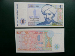 Unc Banknote From Kazakhstan 1 Tenge 1993 P-7 Prefix A....... - Kasachstan