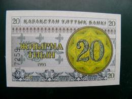 Unc Banknote From Kazakhstan 20 Tyin 1993 P-5 - Kasachstan