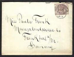 GRANDE BRETAGNE 1886: LSC De Liverpool Pour Francfort Avec Le Y&T 79 - Briefe U. Dokumente