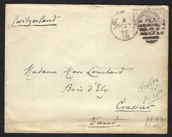 GRANDE BRETAGNE 1895: LSC De Londres Pour La Suisse Avec Le Y&T 79 - Briefe U. Dokumente