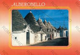 CARTOLINA  ALBEROBELLO, BARI, PUGLIA,TRULLI  COSTUMI , ANIMATA ,VIAGGIATA 1995 - Bari