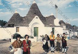 CARTOLINA  ALBEROBELLO, BARI, PUGLIA,TRULLI  E FOLKLORE,  COSTUMI , ANIMATA ,VIAGGIATA 1995 - Bari
